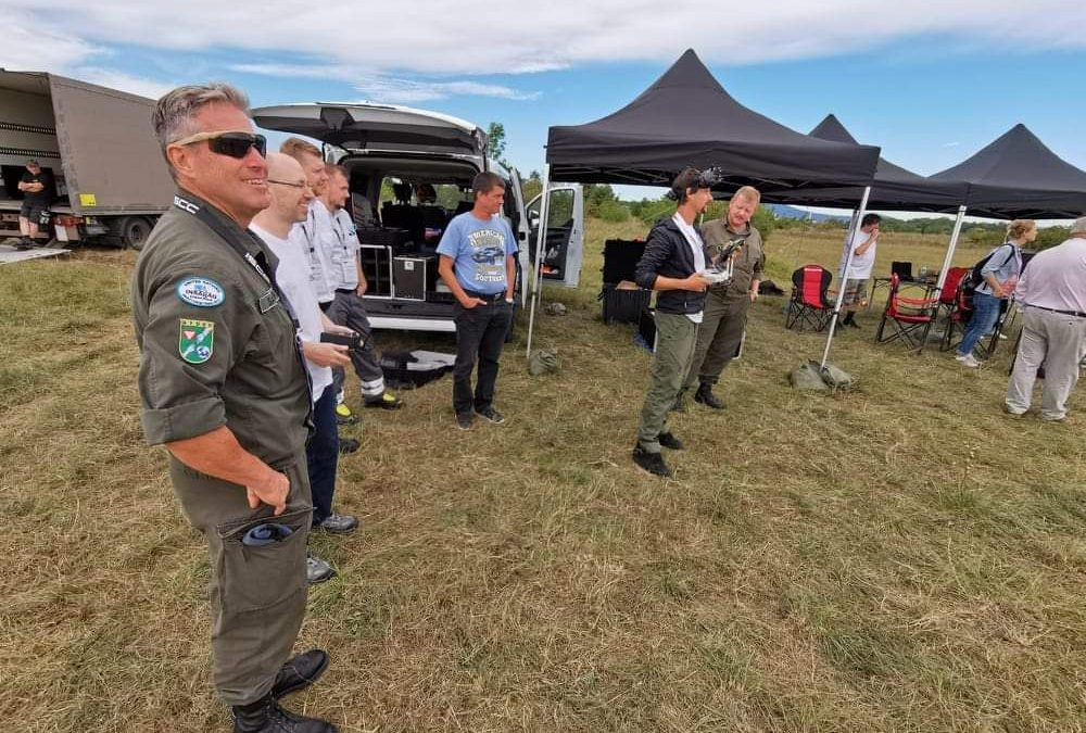 Ground penetrating radar and GPR drone tested on 26.8.2020 in Austria
