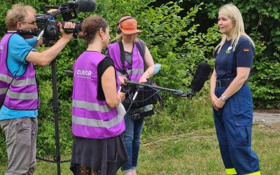 Several media teams at the Small Scale Field Test 1.4 in Freising, Germany